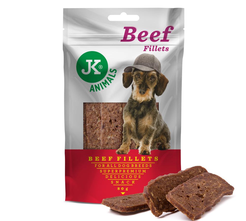 JK ANIMALS Meat Snack Beef Fillets, masový pamlsek | © copyright jk animals, všechna práva vyhrazena