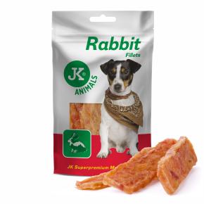 Meat Snack Rabbit fillets, 94% sušené králičí maso, masový pamlsek, 80g