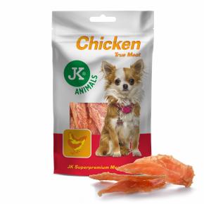 Meat Snack 100 % Chicken, 100% sušené kuřecí maso, masový pamlsek, 80g