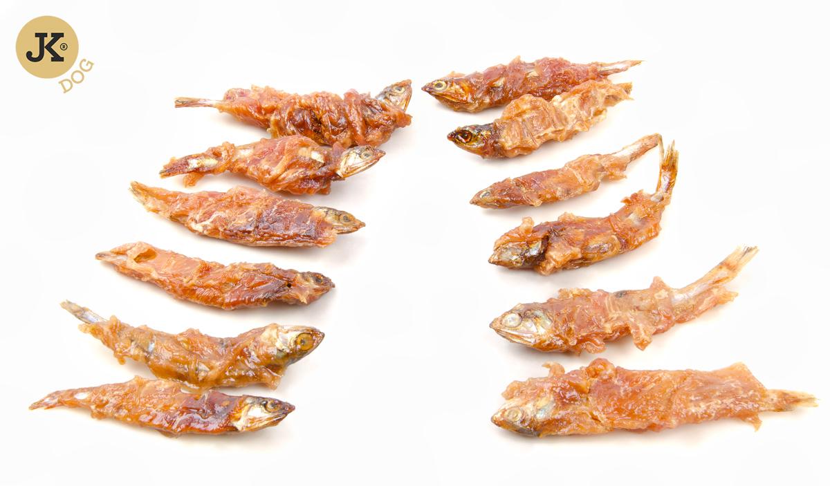 MEAT SNACK 100% CHICKEN MEAT AND FISH – sušené kuřecí maso na rybě  | © copyright jk animals, všechna práva vyhrazena
