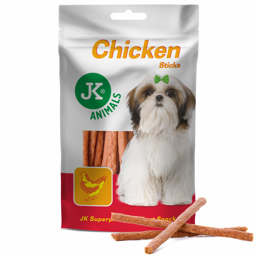 MEAT SNACK CHICKEN STICKS – sušené kuřecí tyčinky | © copyright jk animals, všechna práva vyhrazena