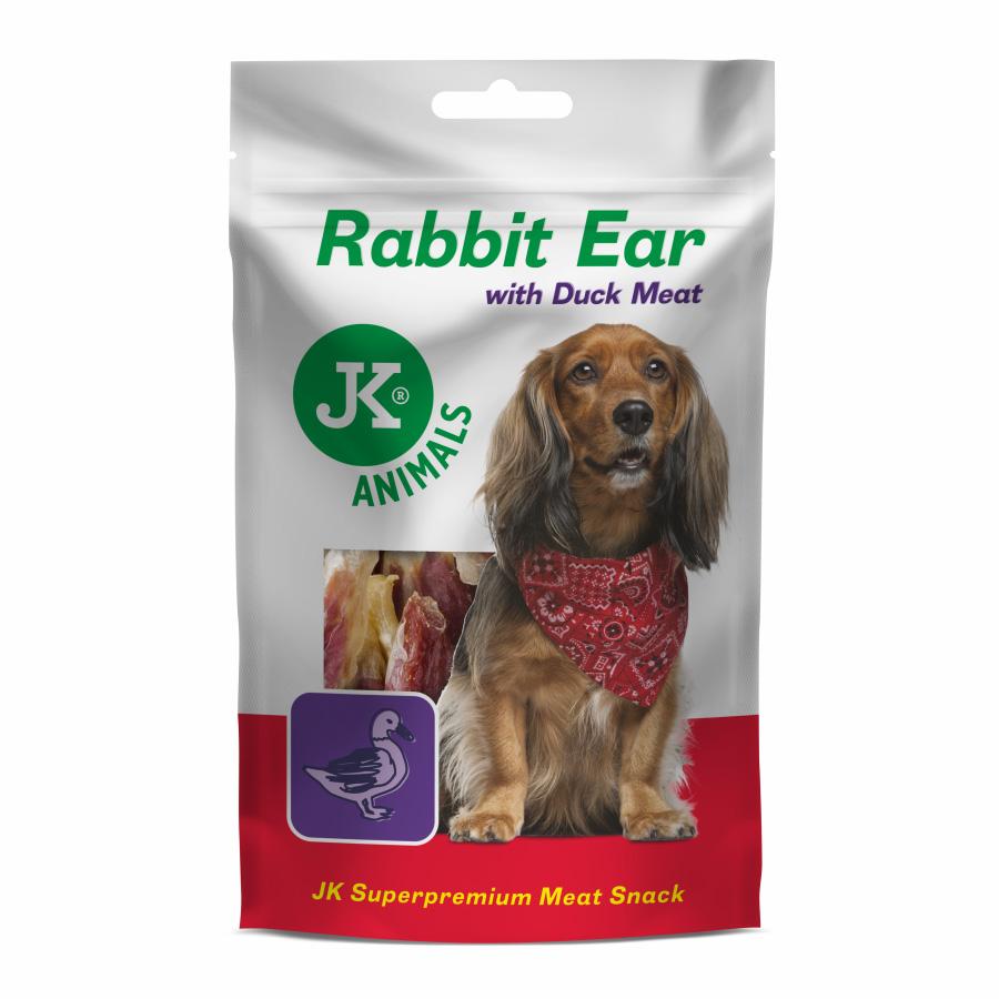 JK ANIMALS Meat Snack Rabbit Ear with Duck Meat, masový pamlsek | © copyright jk animals, všechna práva vyhrazena