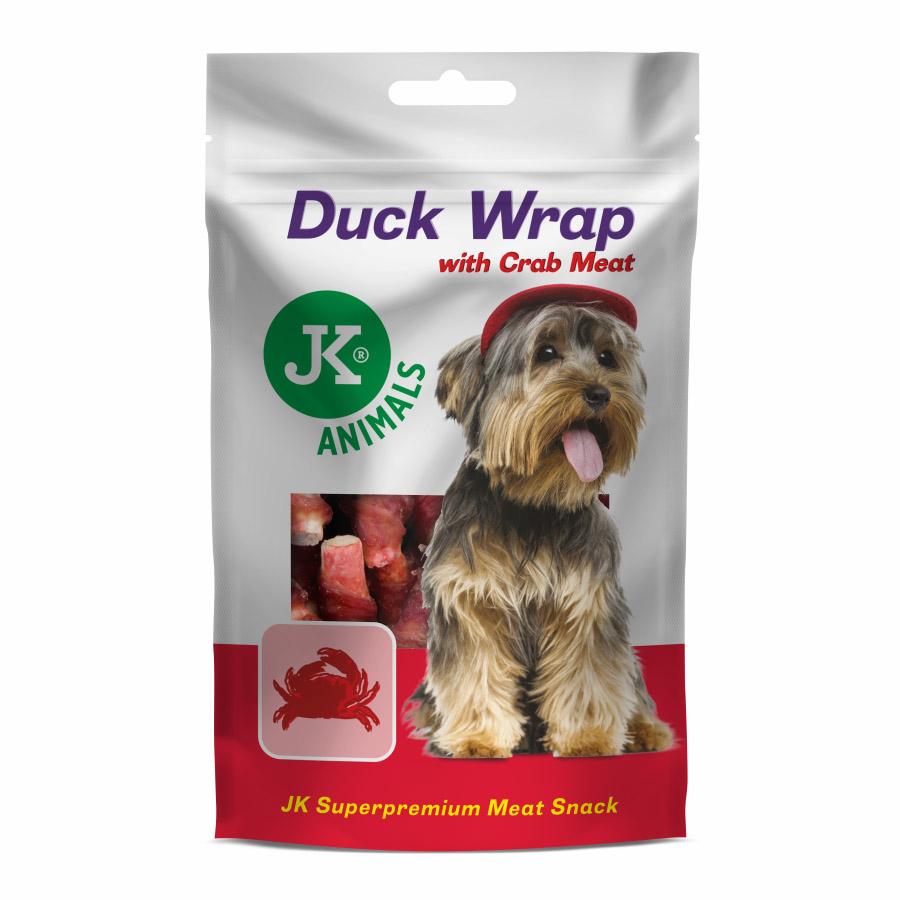 JK ANIMALS Meat Snack Duck Wrap with Crab Meat, masový pamlsek | © copyright jk animals, všechna práva vyhrazena