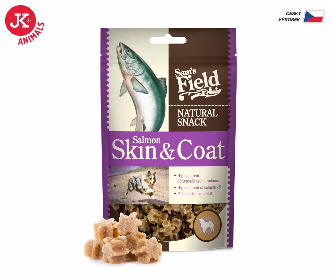 Sam's Field Natural Snack Salmon Skin and Coat 200g | © copyright jk animals, všechna práva vyhrazena
