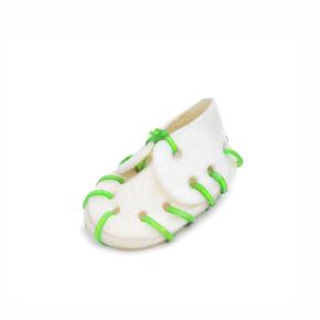 Bílá bota z kůže malá, přírodní pamlsek