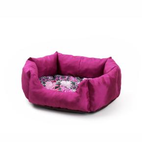 Pelíšek + poduška LUX č. 2 růžový