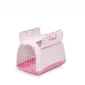 Plastová přepravka Linus CABRIO růžová