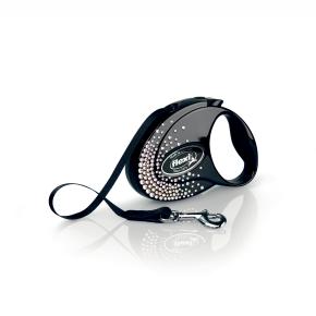 flexi Glam Splash Crystal Tape (pásek), velikost S, černá