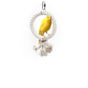 Houpačka kruh malá, provazová hračka pro ptáky