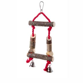 Ptačí dřevěná houpačka, dřevěná hračka pro ptáky