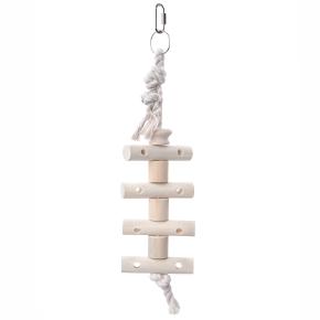 Žebřík na laně pro velké papoušky, dřevěná hračka pro ptáky
