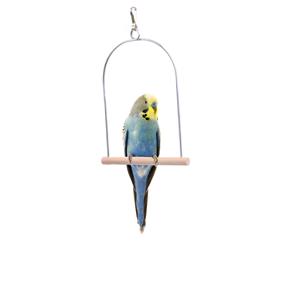 Ptačí dřevěná malá houpačka, dřevěná hračka pro ptáky
