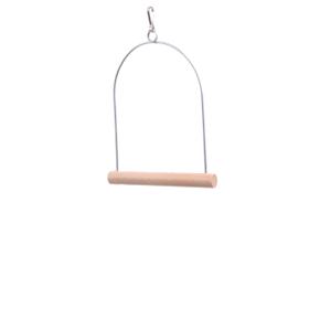 Ptačí dřevěná střední houpačka, dřevěná hračka pro ptáky