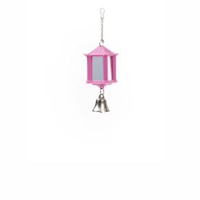 Lucerna se zrcátkem a zvonkem, plastová hračka pro ptáky