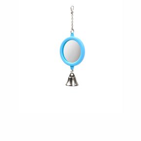 Kulaté zrcátko se zvonkem, plastová hračka pro ptáky